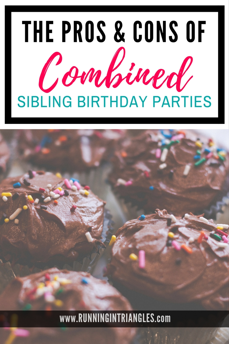 The pros and cons of combined sibling birthday parties